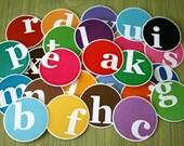 Printable Scrapbooking Tags- PDF- Bright ABC's- set of 26