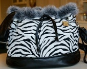The Vintage Bitch Zebra Bucket Carrier