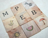 Toddler friendly alphabet tiles.