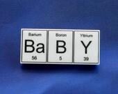 Ba B Y ... periodic table inspired  brooch