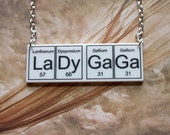 LaDy Gaga    Necklace ... periodic table inspired jewelery