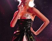 Future Vintage Misty Greer Strapless Skull & Crystal Party Dress