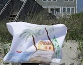 Wet  Suit Bag.  Bikini hand painted bag.