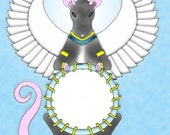 Angel Rat with hole of photo.