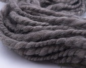 Pure Chunky Grey, handspun yarn, super bulky merino yarn, 50 yards
