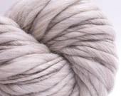 Pure Beige, HandSpun Naturally Beige Brown Single Yarn, Bulky, 200 yards