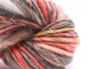 Fantaisie, Handspun Handpainted Leicester, Sparkles, Silk, Alpaca and Merino Yarn, 50yards, single