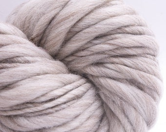 Pure Beige, HandSpun Naturally Beige Brown Merino Single Yarn, Bulky, 250 yards