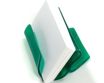 Green Colored Vinyl Record Album Business Card Holder / CD Display / iPhone Stand