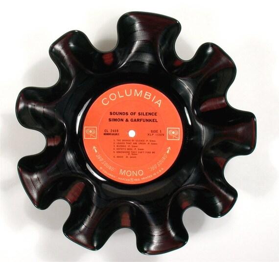 Simon and Garfunkel Vinyl Record Bowl Vintage LP Album Rare 1966 (Sounds of Silence)