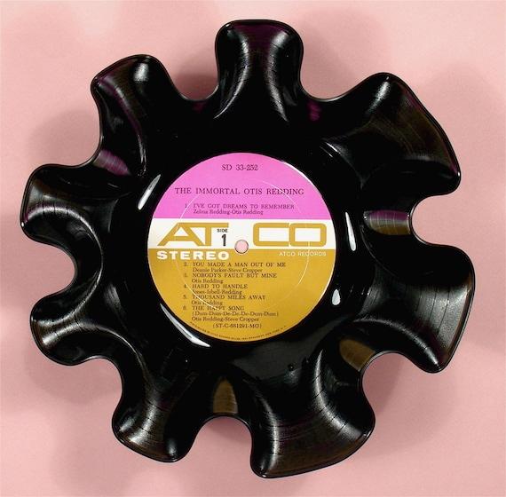 Otis Redding Vinyl Record Bowl Vintage LP Album Rare 1968 (The Immortal Otis Redding) Pink Gold Atco Label