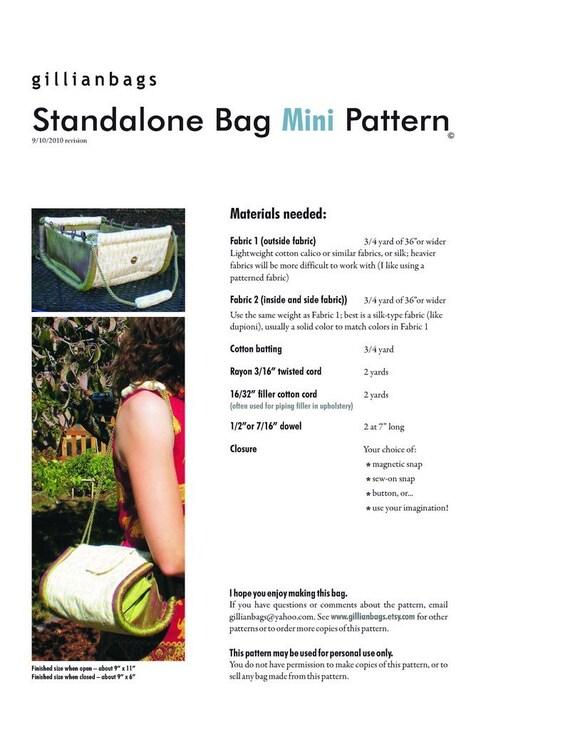 Standalone Bag Mini Pattern