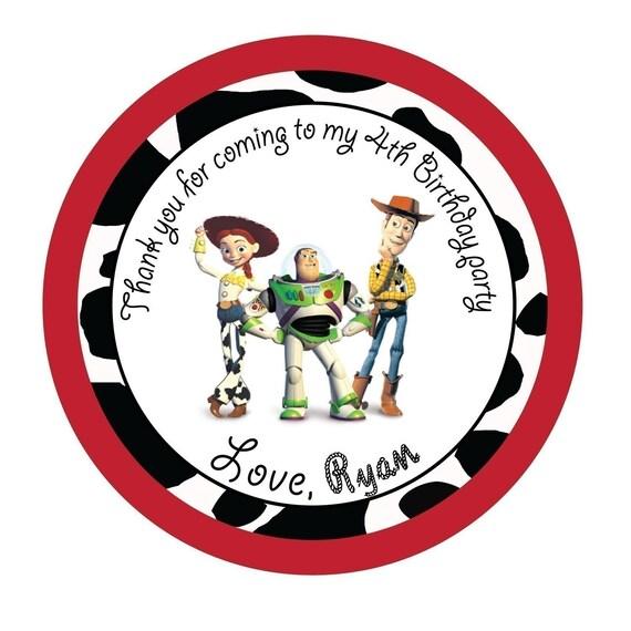 Personalized Stickers, Toy Story, Jessie, Buzz, Woody, Treat bag, Girl ...