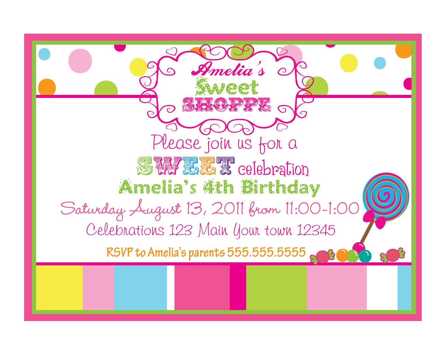 Baby Shower Invites For Girls is amazing invitation sample
