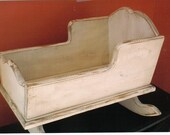Doll Furniture-Small Wooden Cradle-PATTERN