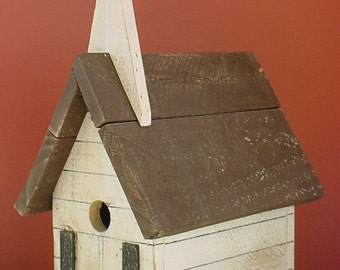 Primitive Southern Church Birdhouse-Handmade