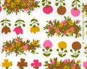 Vintage Fabric  1962  Flowers