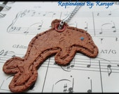 SALE 50% OFF- Faux Leather Dolphin Necklace