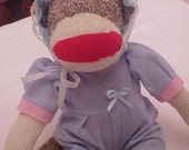 Rockford red heel sock monkey original classic 23 inch baby dressed will embroidery name for free