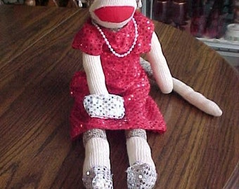 Sock MonkeyGenuine Rockford Red Heel Classic Dressed Lady Girl