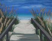 Beach Path 3 Original Oil Painting of St Augustine Florida