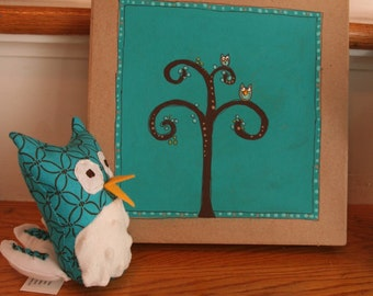 SALE Hand Painted Owl Box