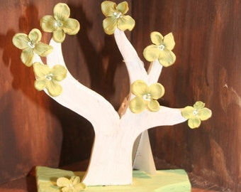 Mini Wooden Hand painted Tree-Girlie