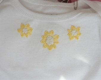 SALE Sunflower short sleeved 9 month onesie