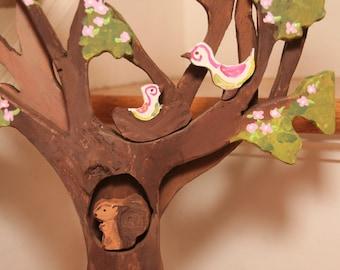 Handpainted Wooden Tree Playset CUSTOM