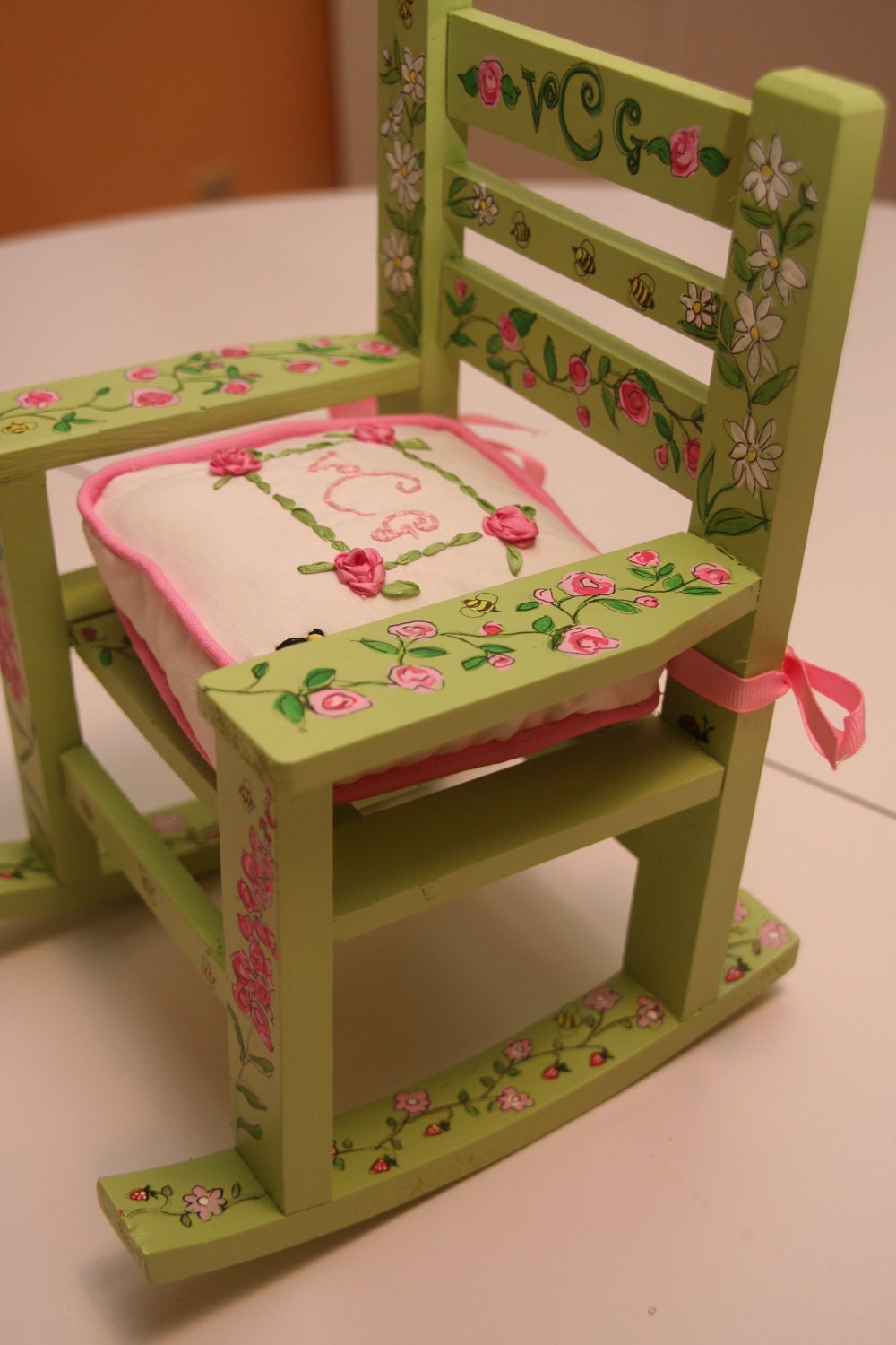 Custom Doll Rocking Chair And Cushion Custom By