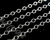 925 Sterling Silver Chain Bulk Flat Cable 2x1.5mm,  WHOLESALE CHAINS. Select your Size
