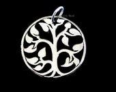 Tree of Life Charm, Sterling Silver Tree Charm- 15 x15mm