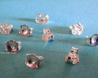 Bali Sterling Silver Earnuts, 6 pcs, 5x6 mm