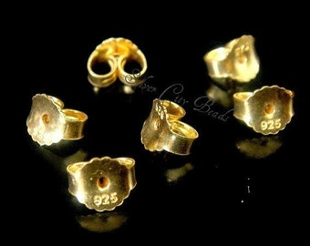14k Gold Filled Earnuts-4x5mm- 6 pcs