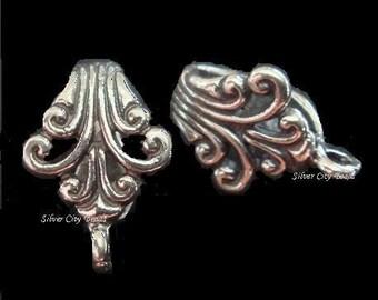Sterling Silver Fancy Bali Bail -1 pc 15.7x8.15 mm