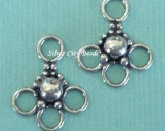 Bali Sterling Silver Chandeliers 2 pcs- 14.8 x 11.6mm