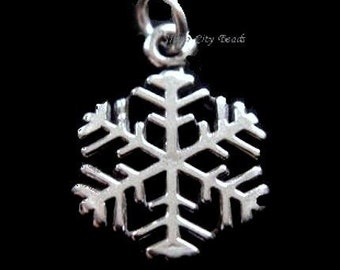 Sterling Silver Snow flake Charm-20.5 mm