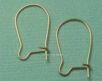 Gold Filled Earwire, Ear Wire, 10 Pcs (5 Prs)- 14K Gold Filled Kidney Earwire- 15x9mm