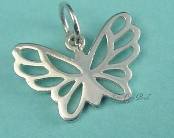 Butterfly - 925 Sterling Silver Charm-  9 x 15MM