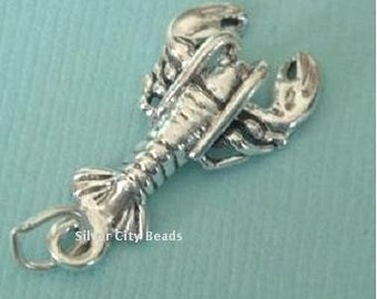 Sterling Silver Lobster Charm - 21mm
