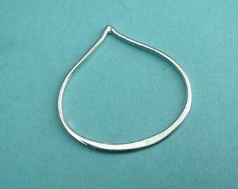 Silver Links Lotus Petal Link  Thai Sterling Silver Lotus Petal Link-25x25mm