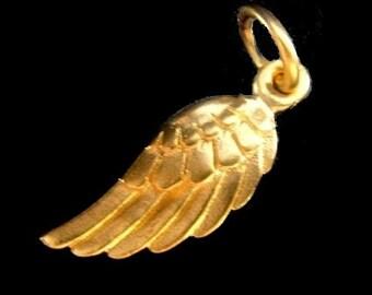 24k Vermeil Small Angel Wing- 20x5mm
