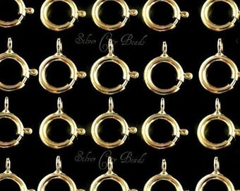 14k Gold Filled Clasp, 5mm Gold Filled Spring Ring Clasps- Closed Ring, 10 PCS, GC145