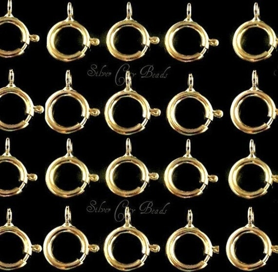 14k Gold Filled Clasp, 20Pcs- 5mm Gold Filled Spring Ring Clasps- Closed Ring, GC145