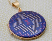 "Alyson Fox Vintage Art Locket Necklace ""Sticks"""
