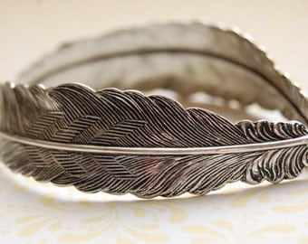 Feather Bracelet Feathers Silver Unique Bracelets Bird Birds Gift for Her Jewelry Gifts Portland Oregon Feather Jewelry