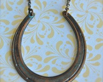 The Brass Horseshoe Necklace