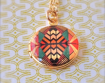 Mini Locket Kaleidoscope - Vintage - Gold