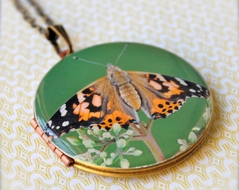 The Butterfly Locket - Vintage