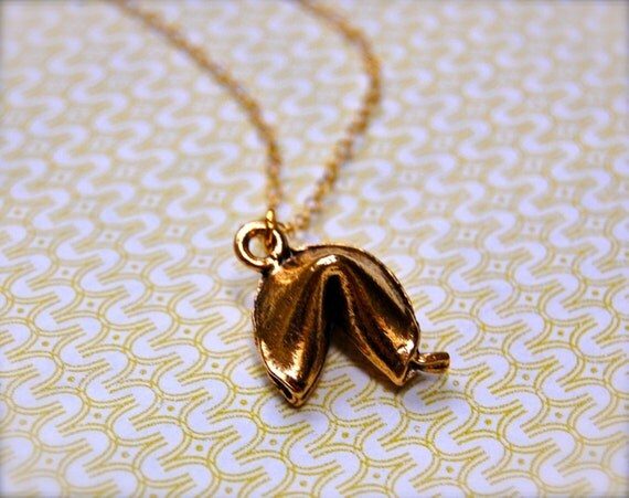 The Golden Fortune Cookie Necklace